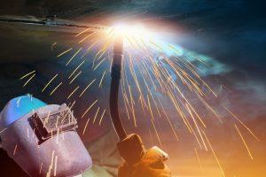 Closeup photo of a welder