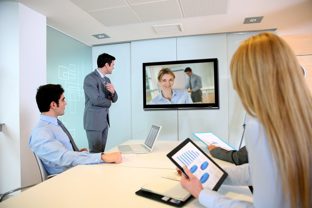 a video conference meeting