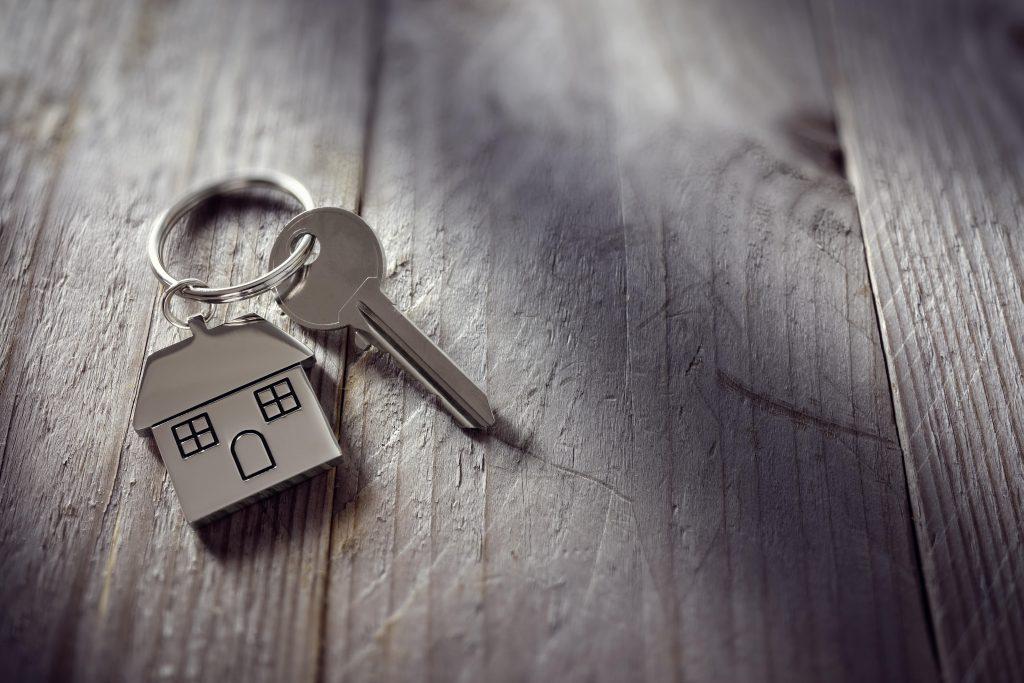 keychain with house key