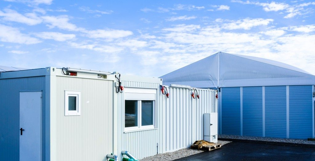 a container shed