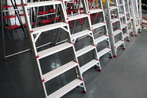 new step ladder display on the tool store