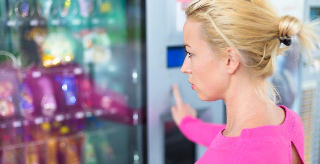 Woman choosing a product