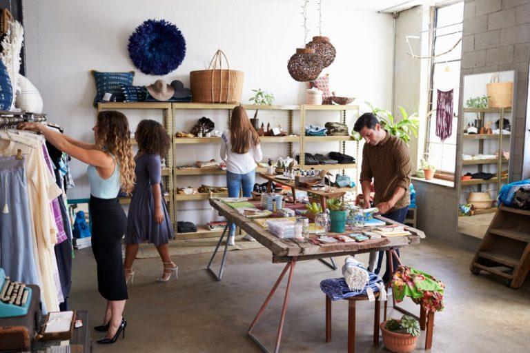 a clothing boutique