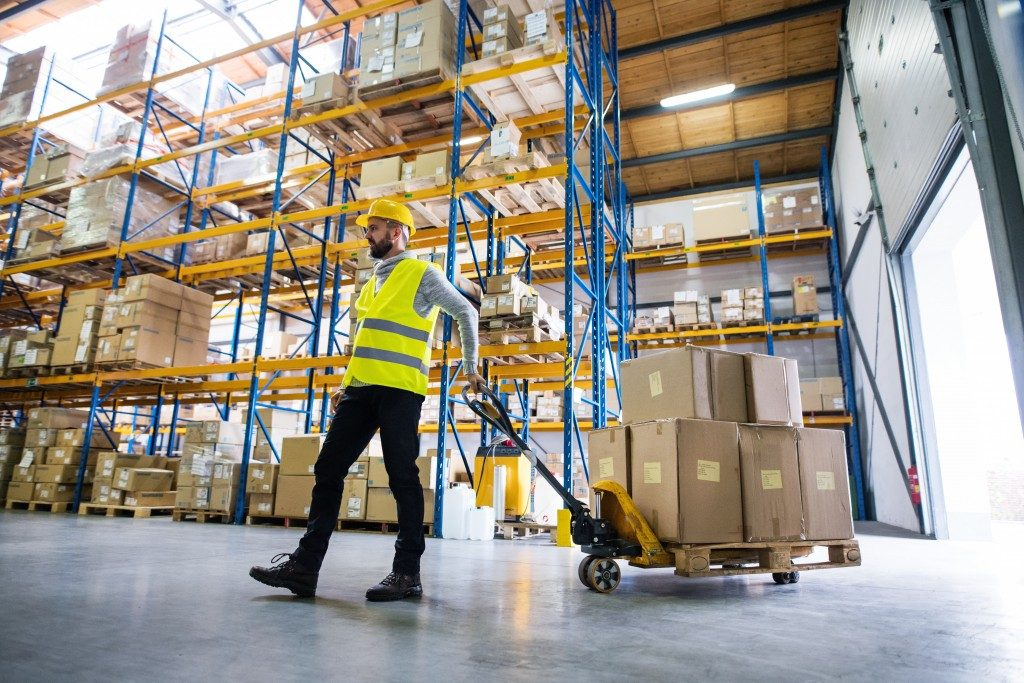 a man working a warehouse
