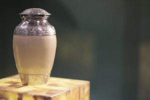 a silver urn