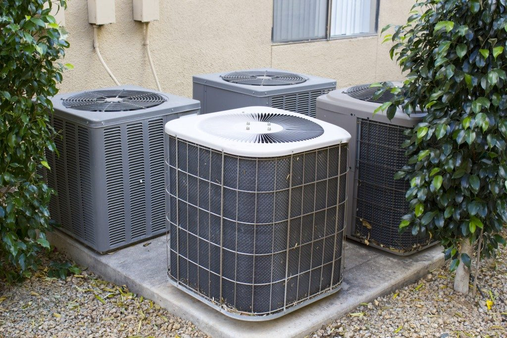 HVAC at the backyard