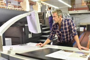 Man working in the printing house
