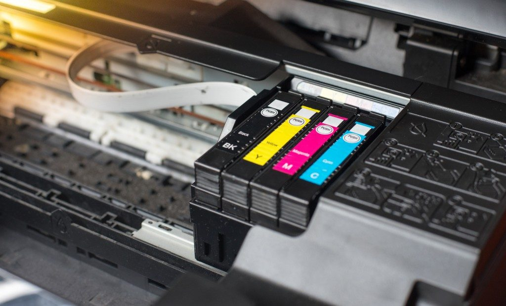 Inkjet cartridge close up