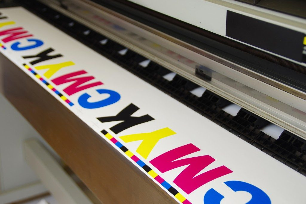 Large inkjet machine printing