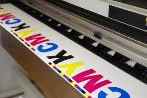 Large inkjet machine printing