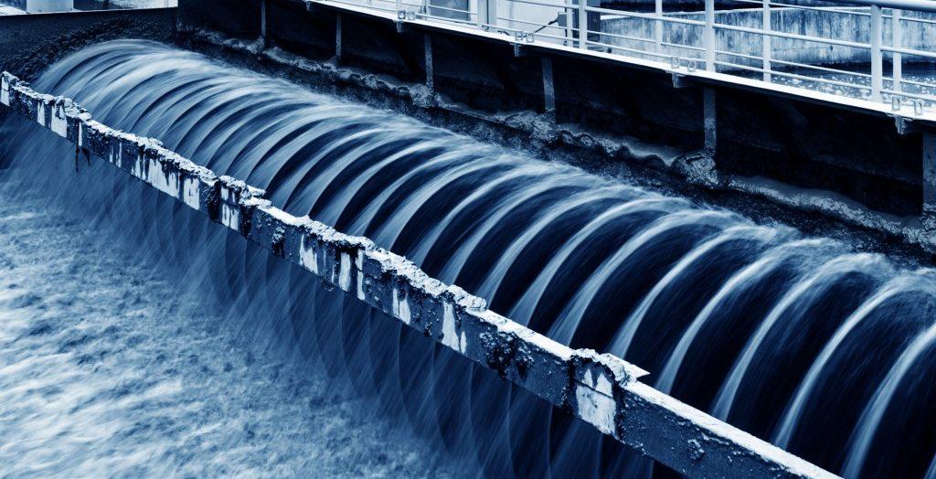 Modern urband wastewater treatment plant