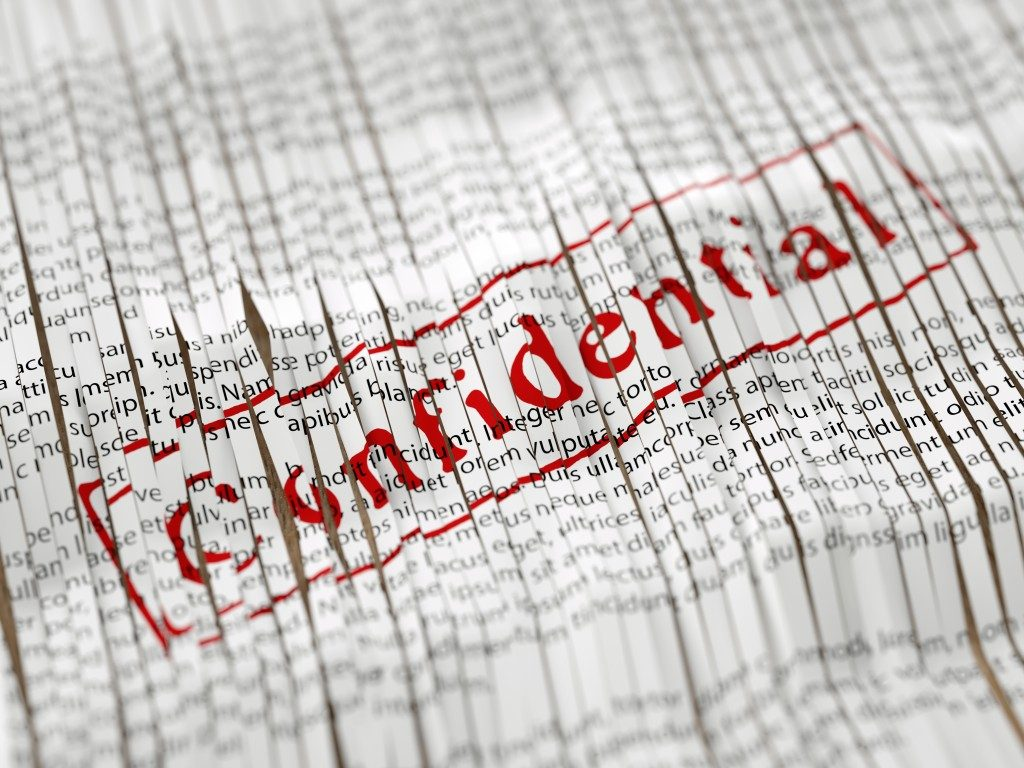 shreded confidential document