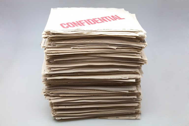 folders containing confidential ducuments