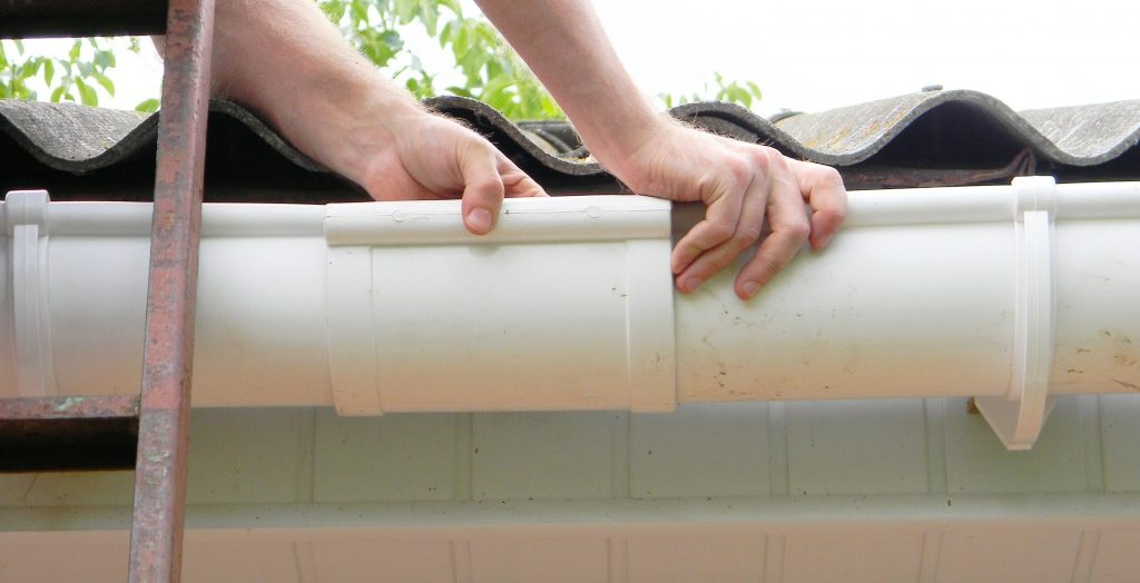Installation of gutter