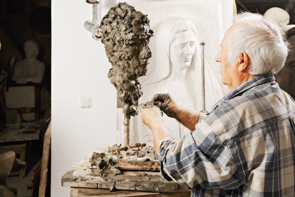 creating a sculpture