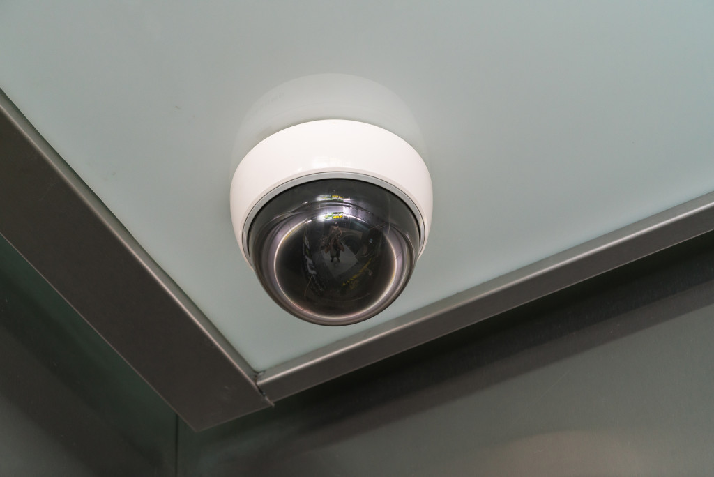 installed security camera