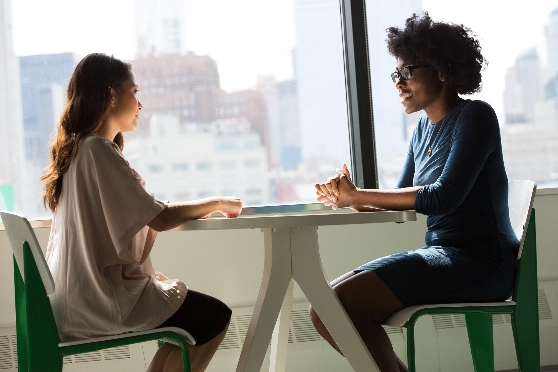 women-having-an-interview