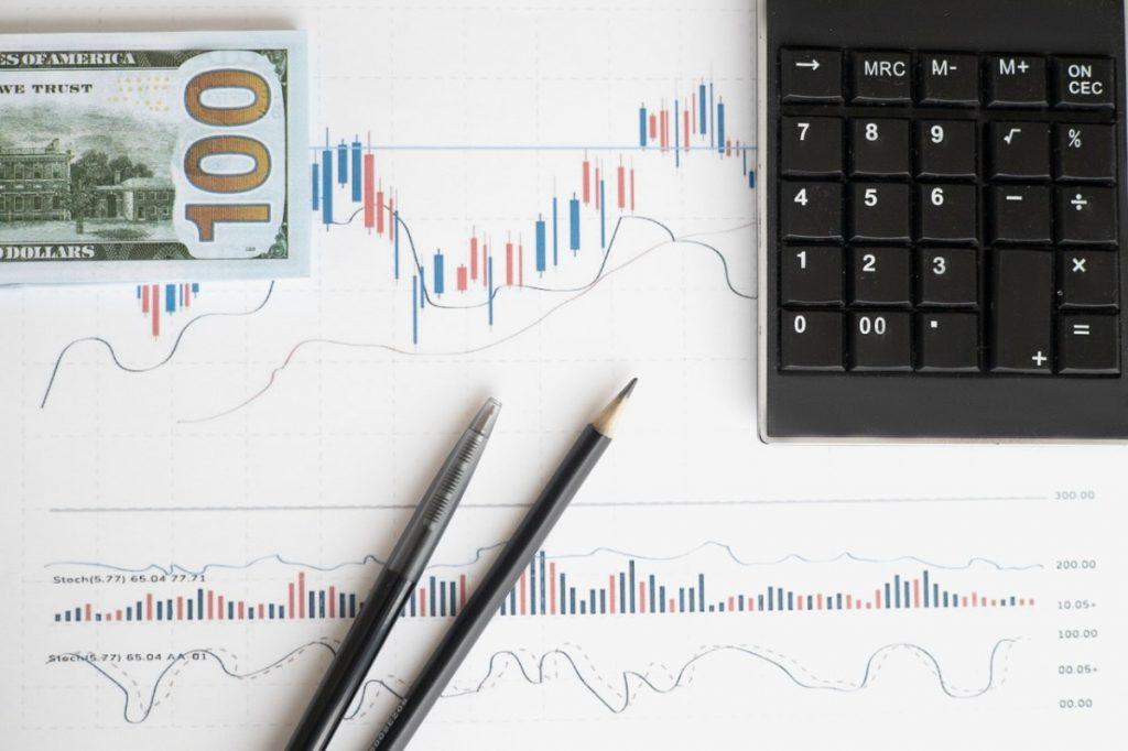 cash, pencils, and a calculator