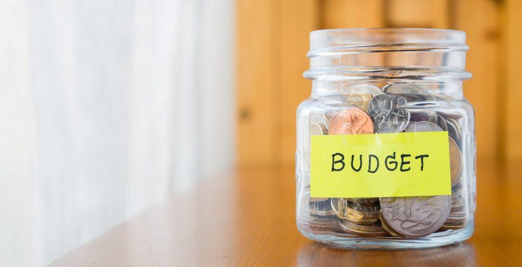 saving up in budget jar